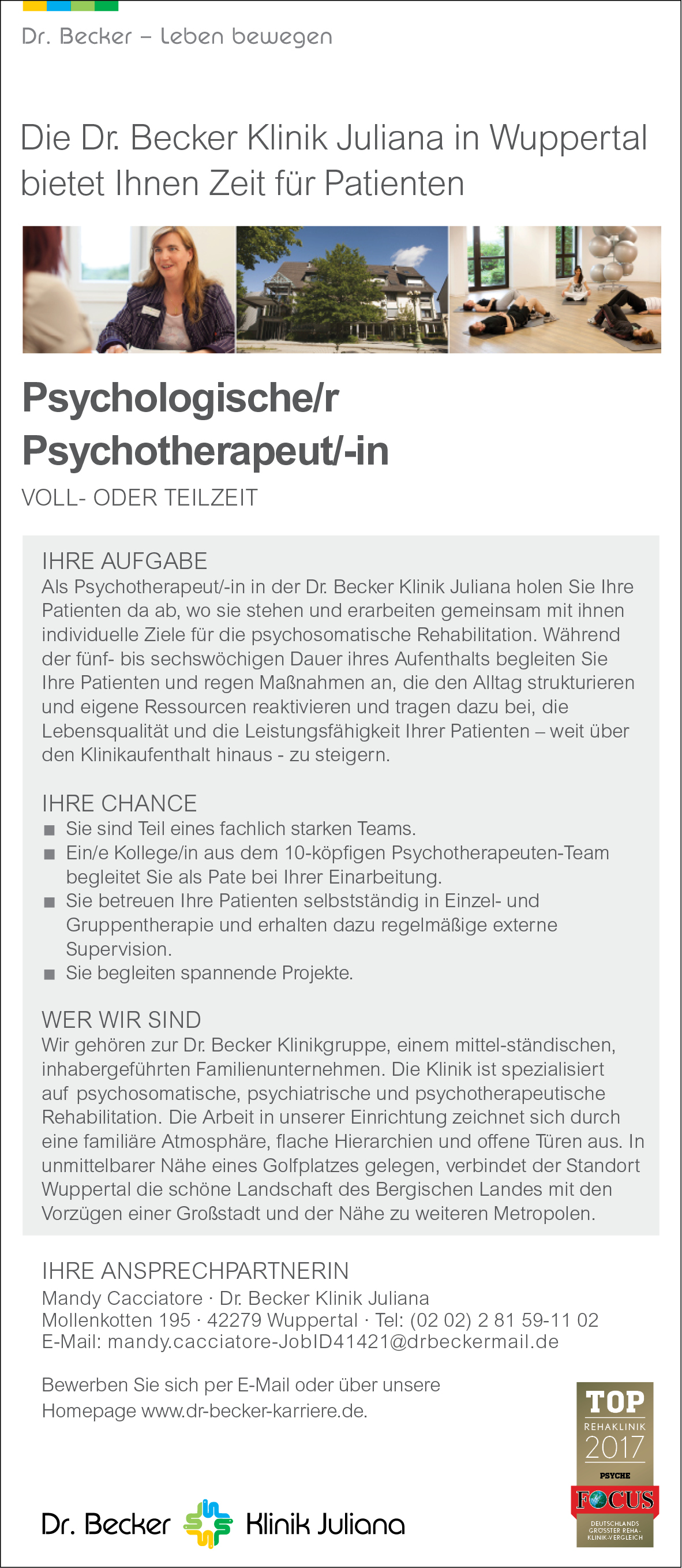psychologischer r psychotherapeut in wuppertal psychjob. Black Bedroom Furniture Sets. Home Design Ideas