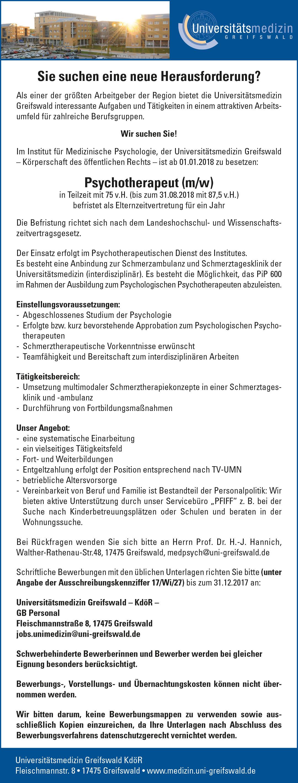 pdf datei anzeigen - Uni Greifswald Bewerbung