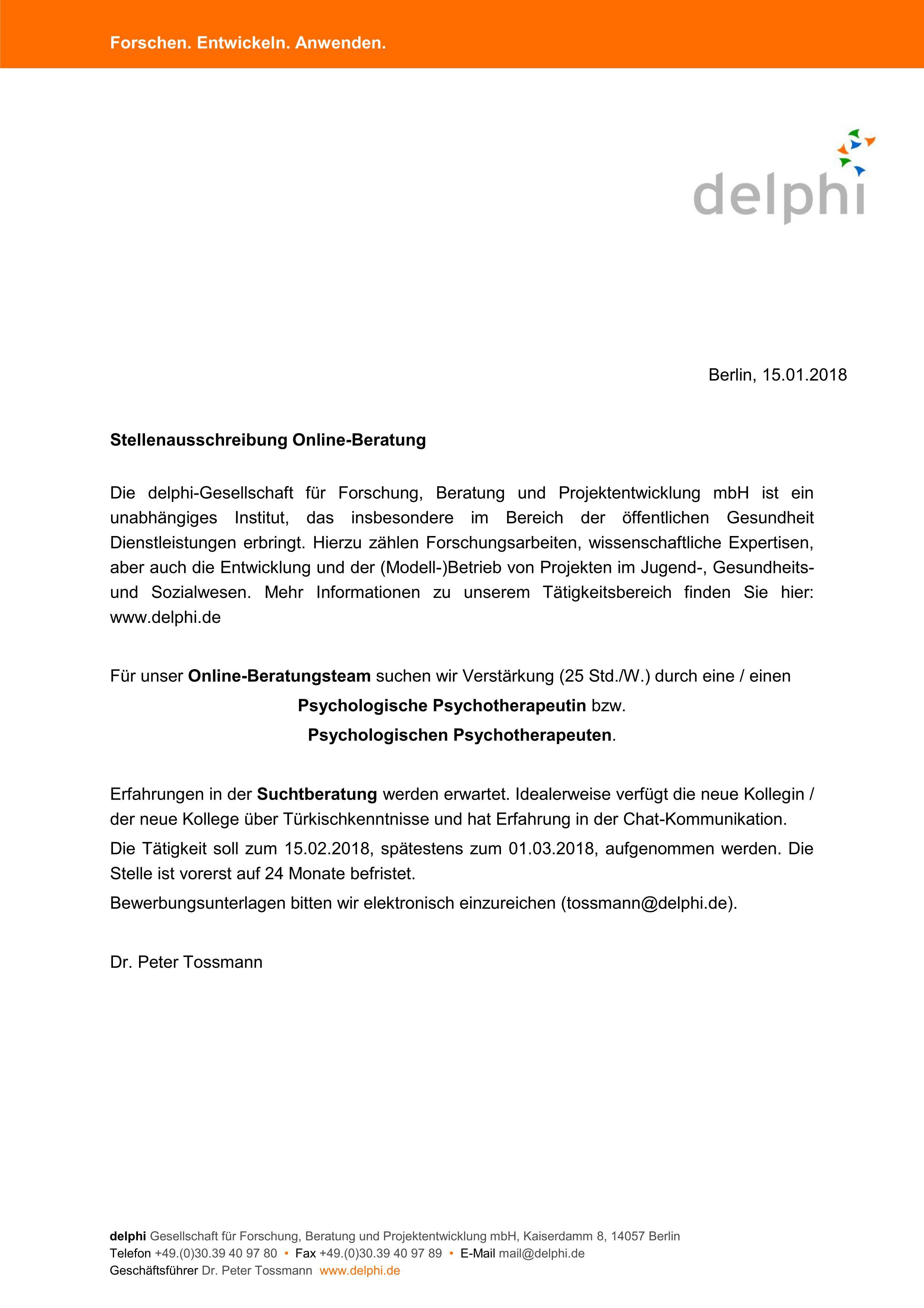 Online Suchtberatung Berlin Psychjob